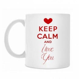 "Krūze ""KEEP Calm and I love You"""