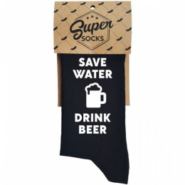 "Zeķes ""Save water - drink beer"""