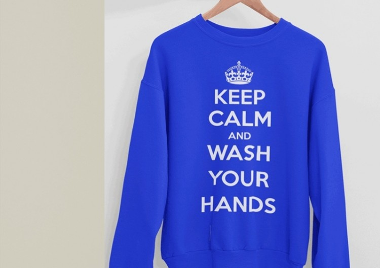 "Džemperis ""Keep Calm and Wash Your Hands"""