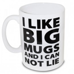 "XXL krūze ""I like BIG MUGS"" (2000ml)"