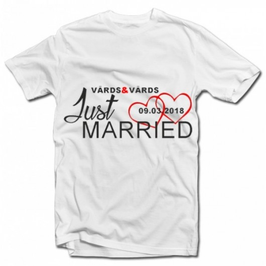 "T-kreklu komplekts ""JUST MARRIED"""