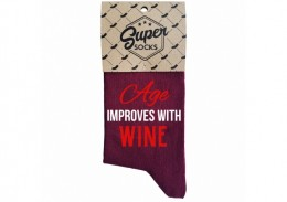 "Zeķes ""Age improves with wine"""