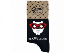 "Zeķes ""Be owlsome"""