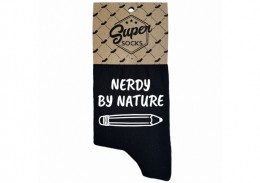 "Zeķes ""Nerdy by nature"""