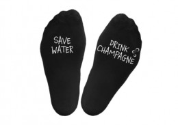 "Zeķes ""Save water.Drink champagne"""
